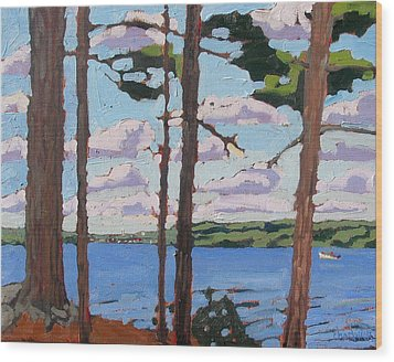 Little Rideau Lake Wood Print by Phil Chadwick