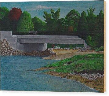 Little River Bridge Wood Print by Ron Sylvia