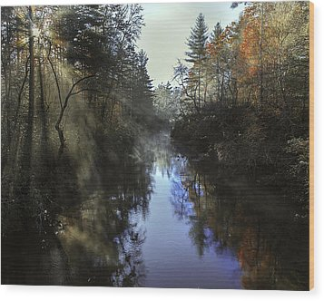 Little River Sunrise Wood Print