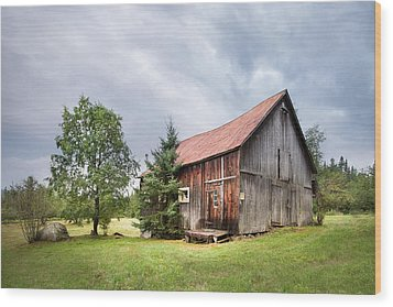 Wood Print featuring the photograph Little Rustic Barn, Adirondacks by Gary Heller