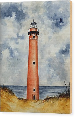 Little Sable Point Lighthouse Wood Print by Michael Vigliotti