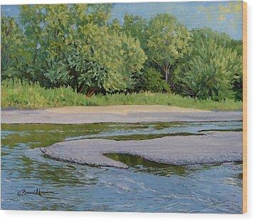 Little Sioux Sandbar Wood Print by Bruce Morrison