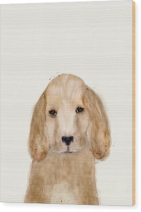 Wood Print featuring the painting Little Spaniel by Bri B