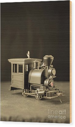Wood Print featuring the photograph Little Steam Locomotive by Edward Fielding
