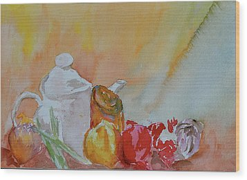 Wood Print featuring the painting Little Still Life by Beverley Harper Tinsley