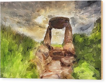 Little Stonehenge Wood Print