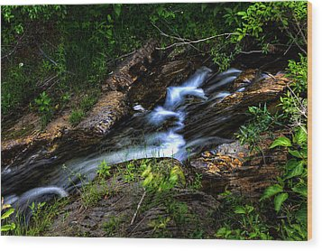 Wood Print featuring the photograph Little Stream by Gary Smith