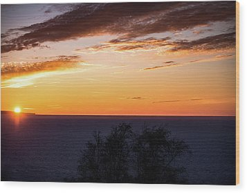 Wood Print featuring the photograph Little Traverse Bay Sunset by Onyonet  Photo Studios
