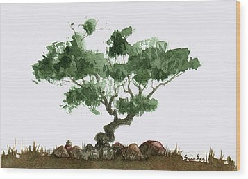 Little Tree 2 Wood Print