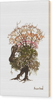 Little Tree 67 Wood Print