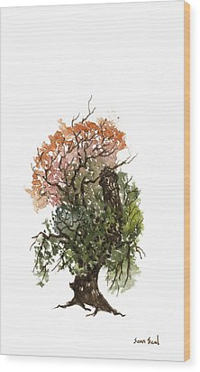Little Tree 71 Wood Print