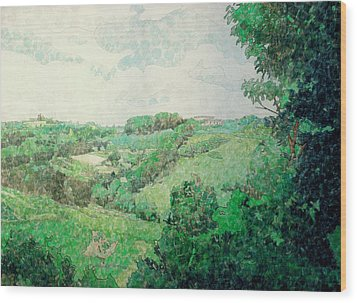 Little Tuscan Valley Wood Print by Jason Charles Allen