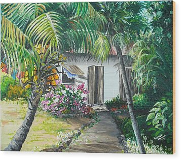 Little West Indian House 2...sold Wood Print by Karin  Dawn Kelshall- Best