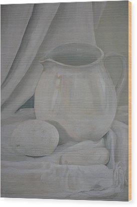 Little White Jug Wood Print