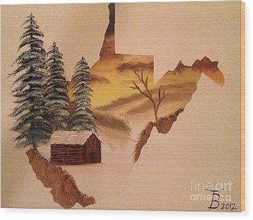 Little Wv Cabin Wood Print by Tim Blankenship