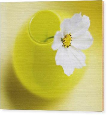 Little Yellow Vase Wood Print