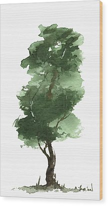 Little Zen Tree 161 Wood Print
