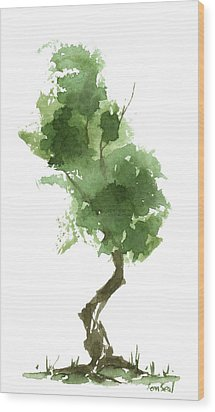 Little Zen Tree 187 Wood Print by Sean Seal