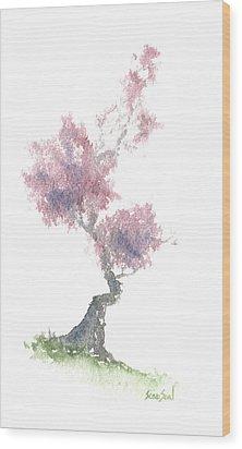 Little Zen Tree 1981 Wood Print by Sean Seal