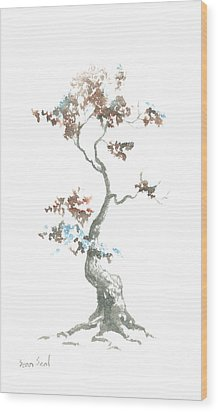 Little Zen Tree 444 Wood Print