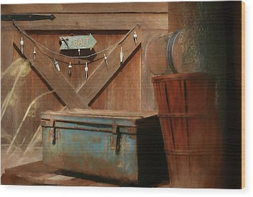 Wood Print featuring the photograph Live Bait by Lori Deiter