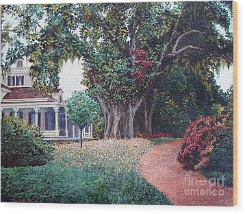 Live Oak Gardens Jefferson Island La Wood Print by Todd A Blanchard