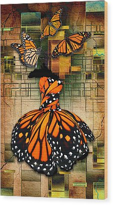 Wood Print featuring the mixed media Living A Life With No Boundaries by Marvin Blaine
