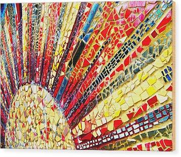 Living Edgewater Mosaic Wood Print