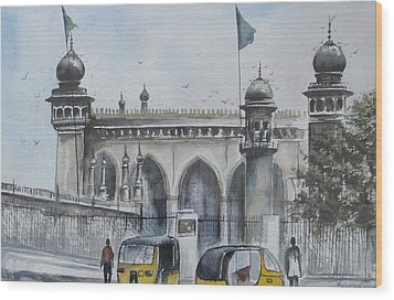 Living Legend Mecca Mazjid Wood Print
