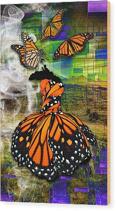 Wood Print featuring the mixed media Living One's Destiny by Marvin Blaine