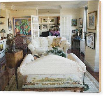 Living Room Iv Wood Print by Madeline Ellis