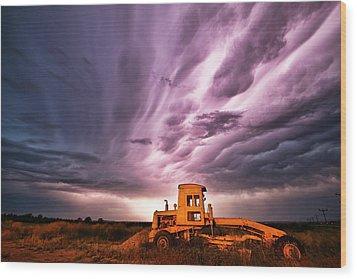 Living Sky In Nebraska Wood Print