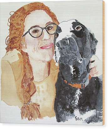 Livvy And Amos Wood Print by Sandy McIntire