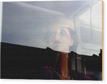 Liz Being Liz Wood Print by Jez C Self