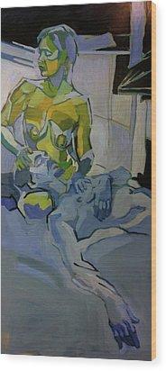 Liz N' Brian Pieta Wood Print by Piotr Antonow