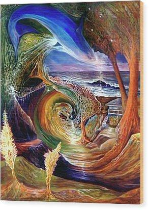 Lizdaze Wood Print by Sevan Thometz