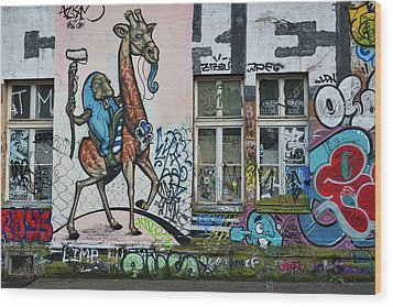 Wood Print featuring the photograph Ljubljana Graffiti - Slovenia by Stuart Litoff