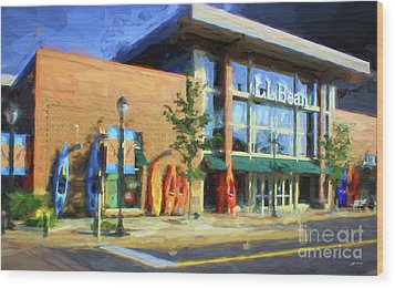 Ll Bean Store At The Promenade In Pa Wood Print by Heinz G Mielke