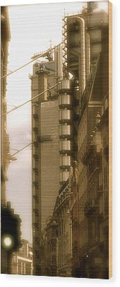 Lloyds Of London Building Wood Print by John Colley