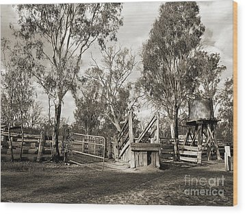 Wood Print featuring the photograph Loading Ramp by Linda Lees