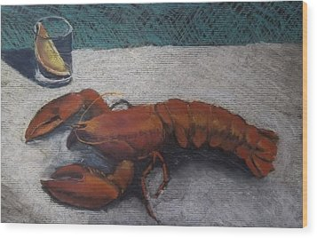 Lobster  Wood Print by Becky Chappell