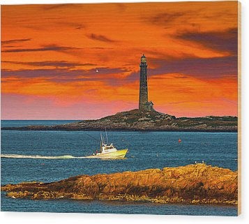 Lobster Boat Cape Cod Wood Print