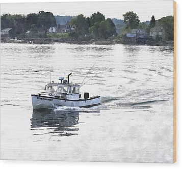 Lobster Boat Lbwc Wood Print by Jim Brage