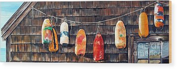 Lobster Buoys, Nova Scotia Wood Print