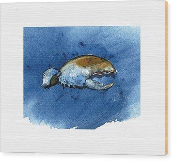 Lobster Claw Wood Print by Paul Gaj