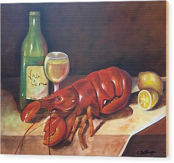 Lobster Fest  Wood Print by Susan Dehlinger