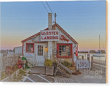 Wood Print featuring the photograph Lobster Landing Sunset by Edward Fielding