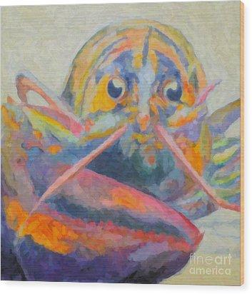Lobster On The Loose  Wood Print by Robin Wiesneth