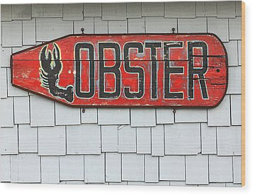 Lobster Paddle Wood Print