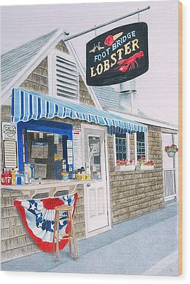 Lobster Shack Wood Print by Glenda Zuckerman